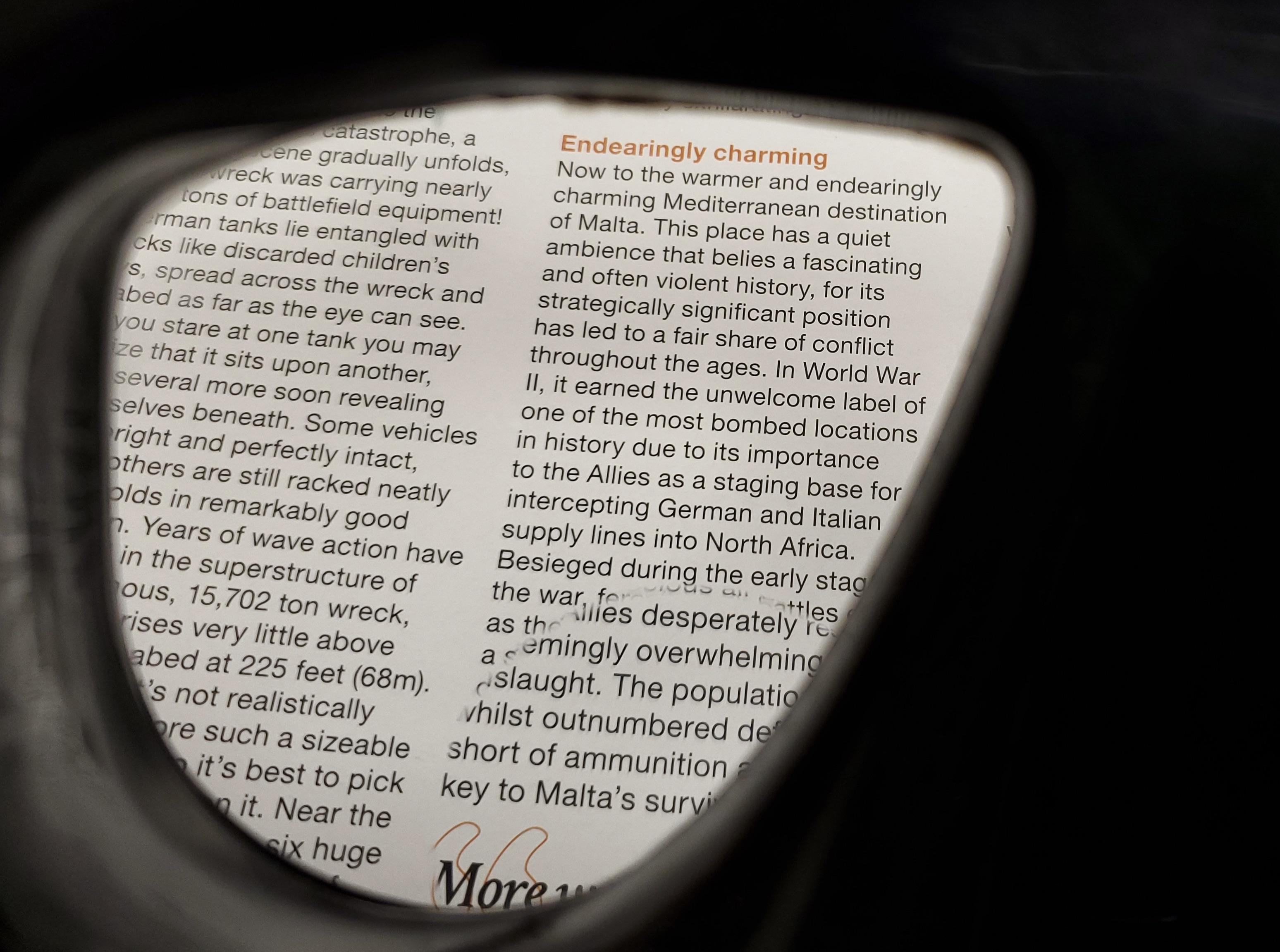 SeaVision Gauge Reader Lens